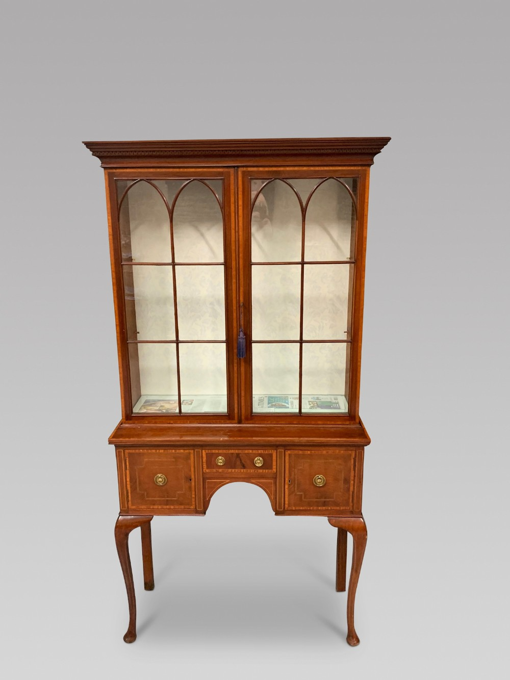 an edwardian display cabinet