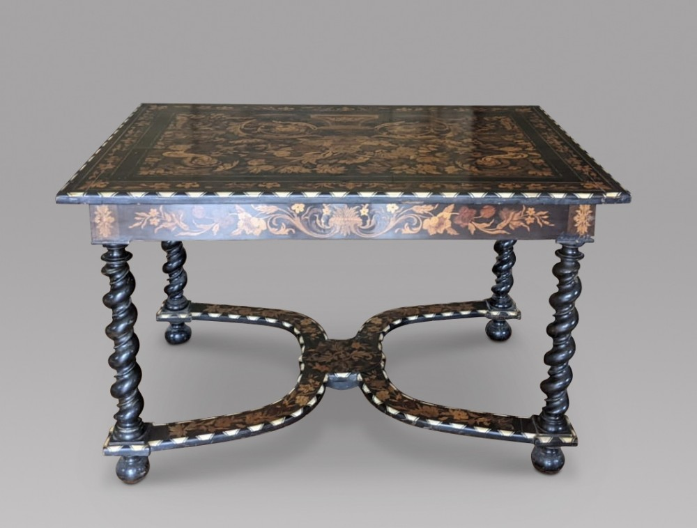 a lovely dutch rosewood marquetry ebony and bone inlay centre table