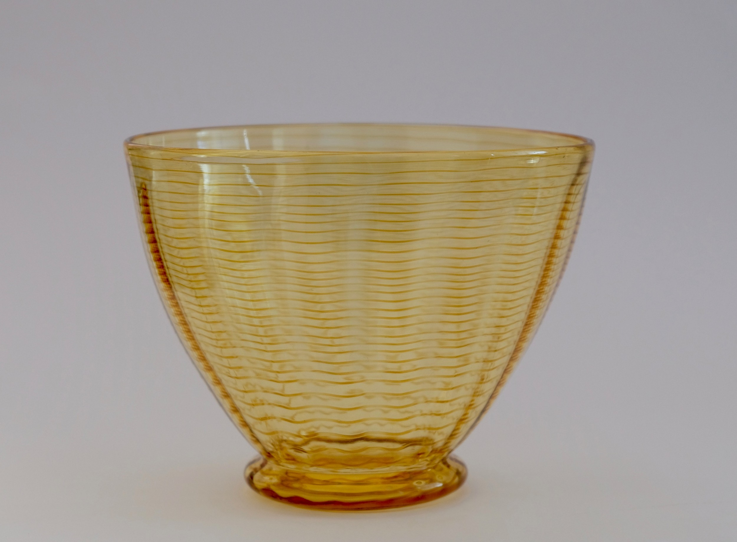 threaded bowl designed by william butler whitefriars c1930