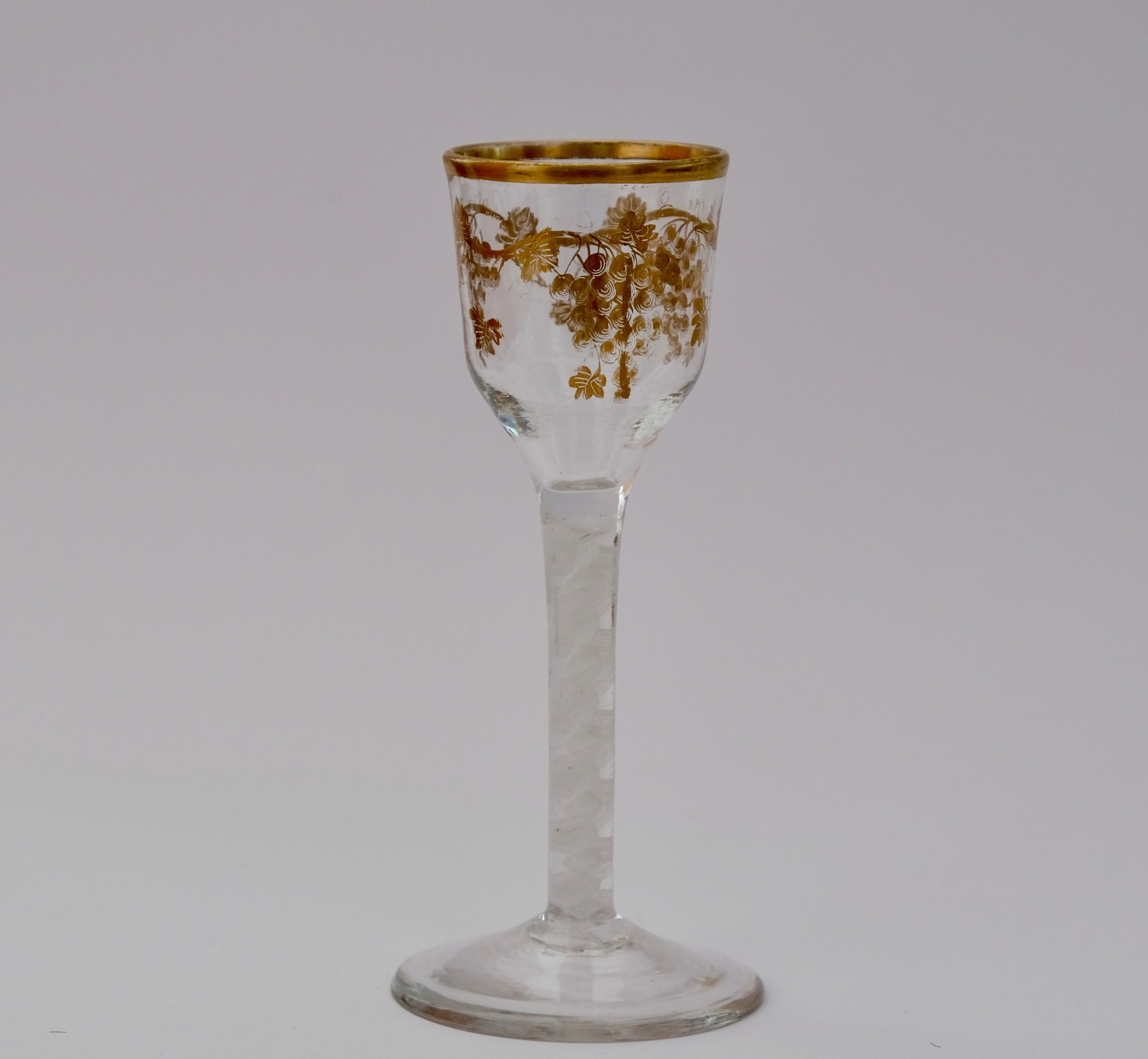wine glass gilded by james giles c1765