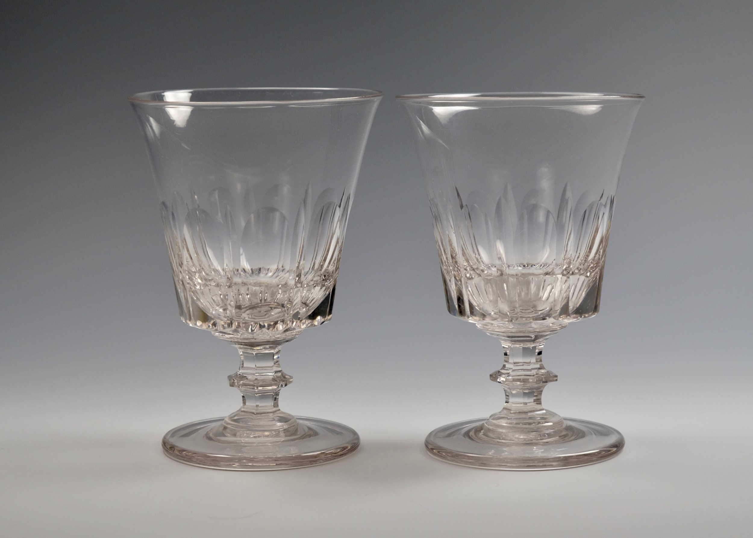 fine pair of bucket bowl rummers english c1830