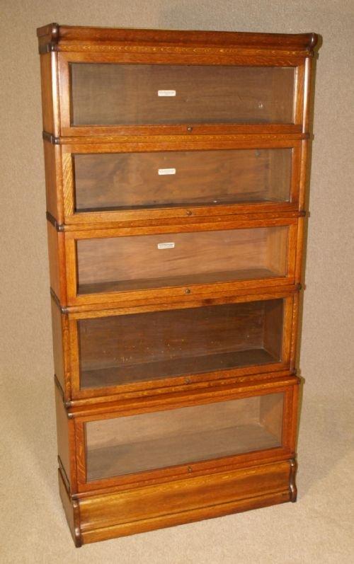 Old Bookcase Uk : Antique oak globe wernicke library bookcase