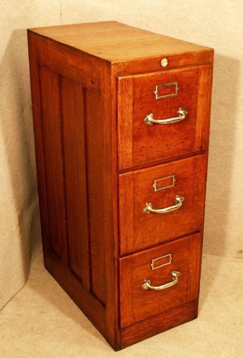 Antique Oak 3 Drawer Filing Cabinet | 101718 | Sellingantiques.co.uk