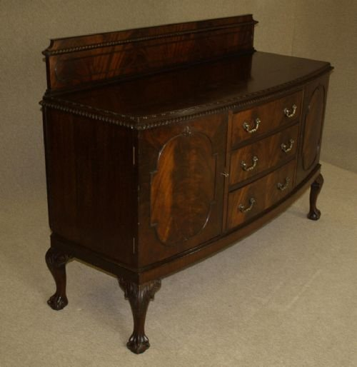 Pleasing Late Victorian Mahogany Bow Front Sideboard With Claw Ball Home Interior And Landscaping Oversignezvosmurscom