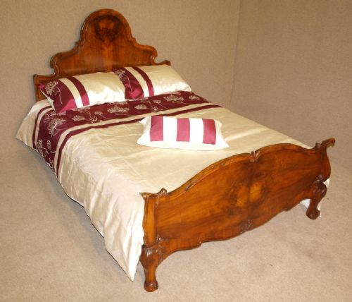 queen anne style walnut double bed 186683