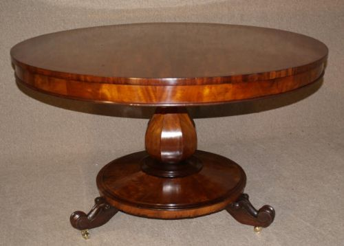 Victorian Mahogany Round Tilt Top Dining Table 191495