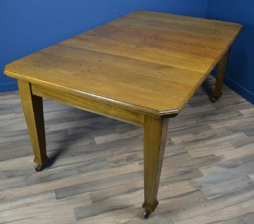 Arts Crafts Oak Extending Dining Table Circa 1900