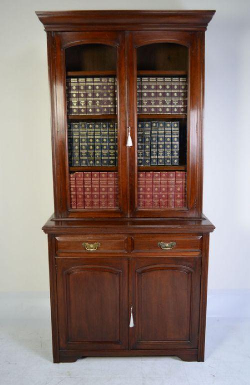 victorian mahogany bookcase circa 1890