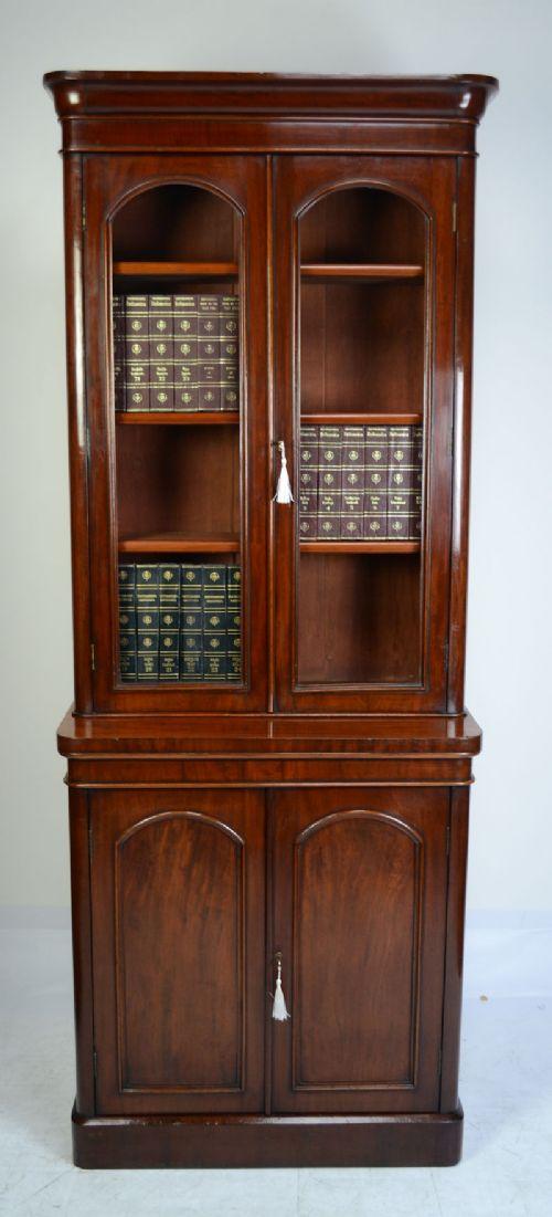victorian mahogany bookcase circa 1860