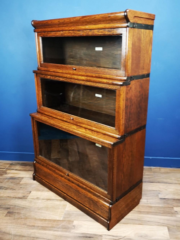 Oak Globe Wernicke Barristers Bookcase Circa 1900 660070
