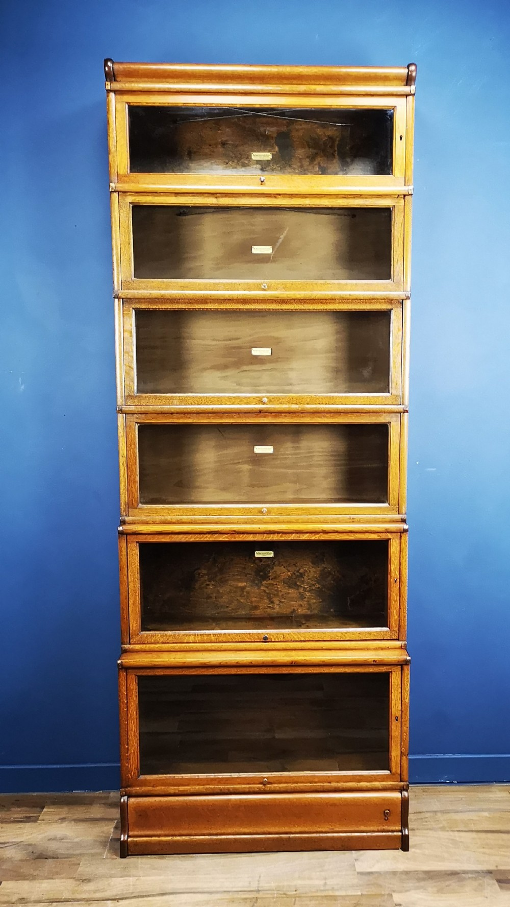 Antique Oak Globe Wernicke Barristers Bookcase Circa 1900