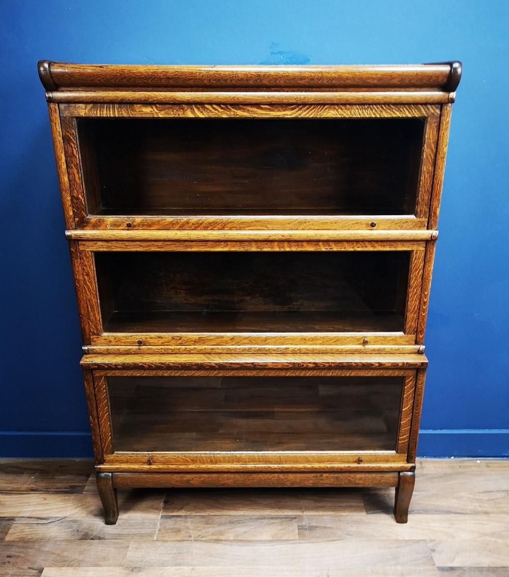 oak globe wernicke barristers bookcase circa 1900