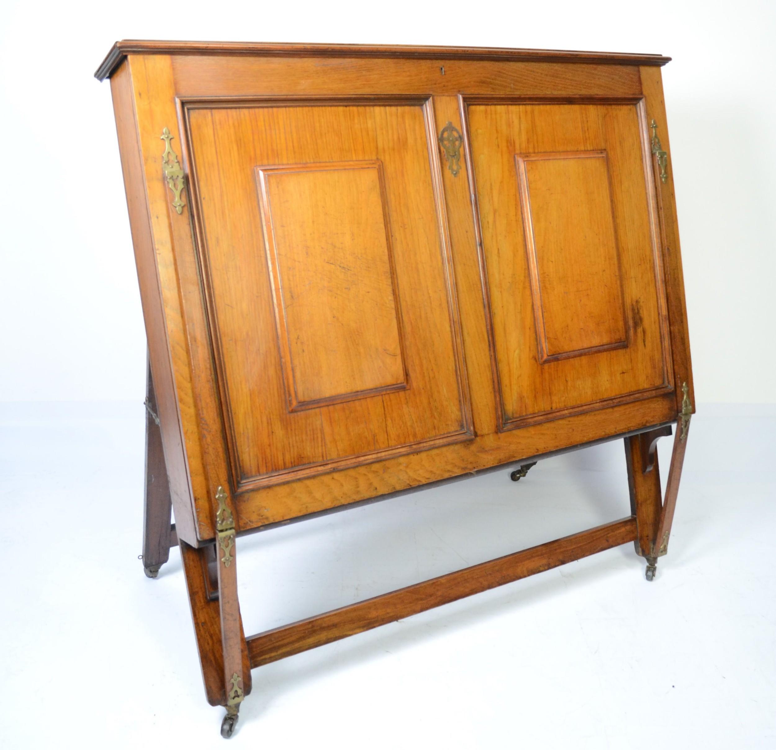 Large Victorian Walnut Folio Cabinet Circa 1890 | 503246 ...