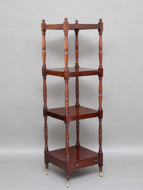 19th century four tier whatnot