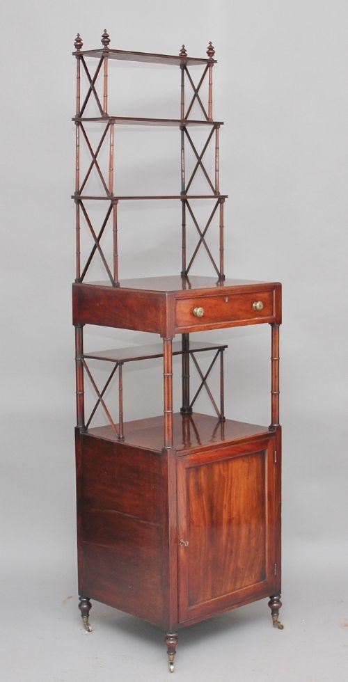 19th century mahogany whatnot