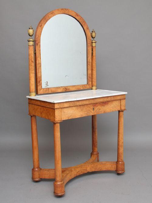 19th century burr elm dressing table