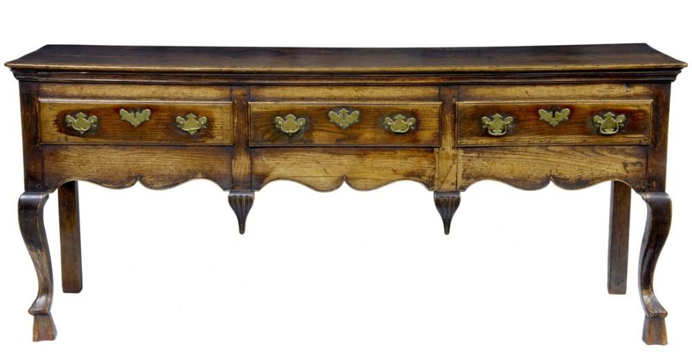 early 18th century oak dresser base
