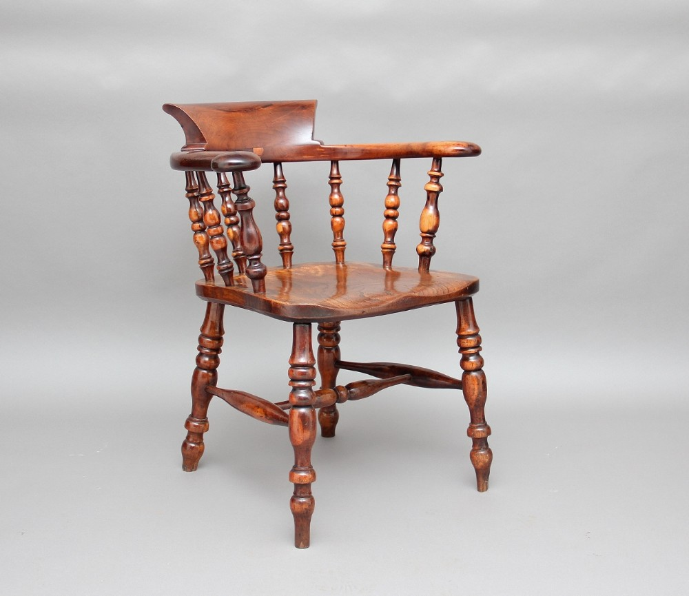 Yew Wood Captains Chair