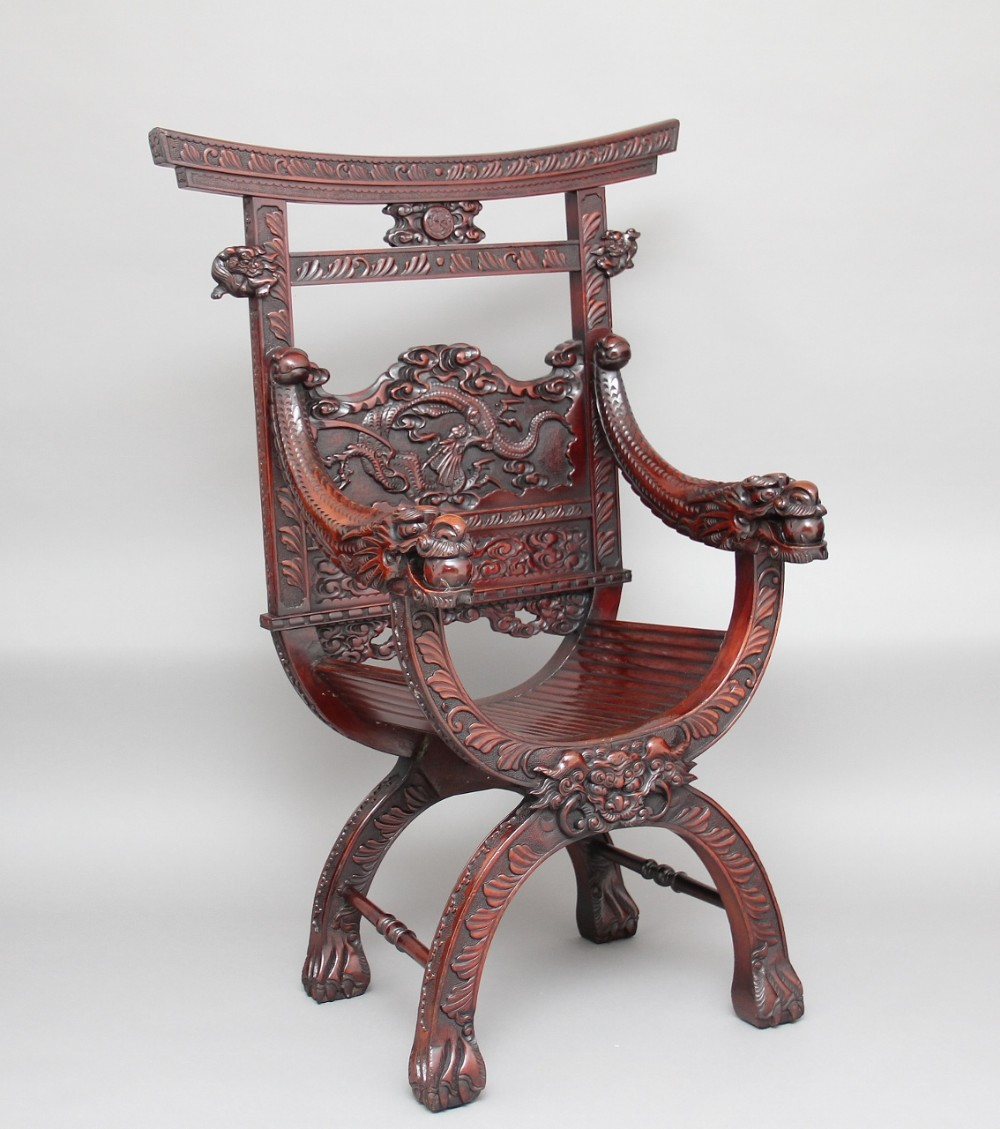 19th century chinese carved throne chair 354104 for Asian antiques uk