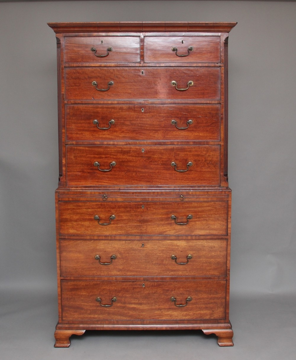 18th century mahogany chest on chest tallboy