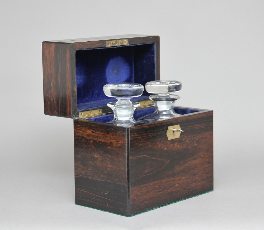 19th century coromandel decanter box