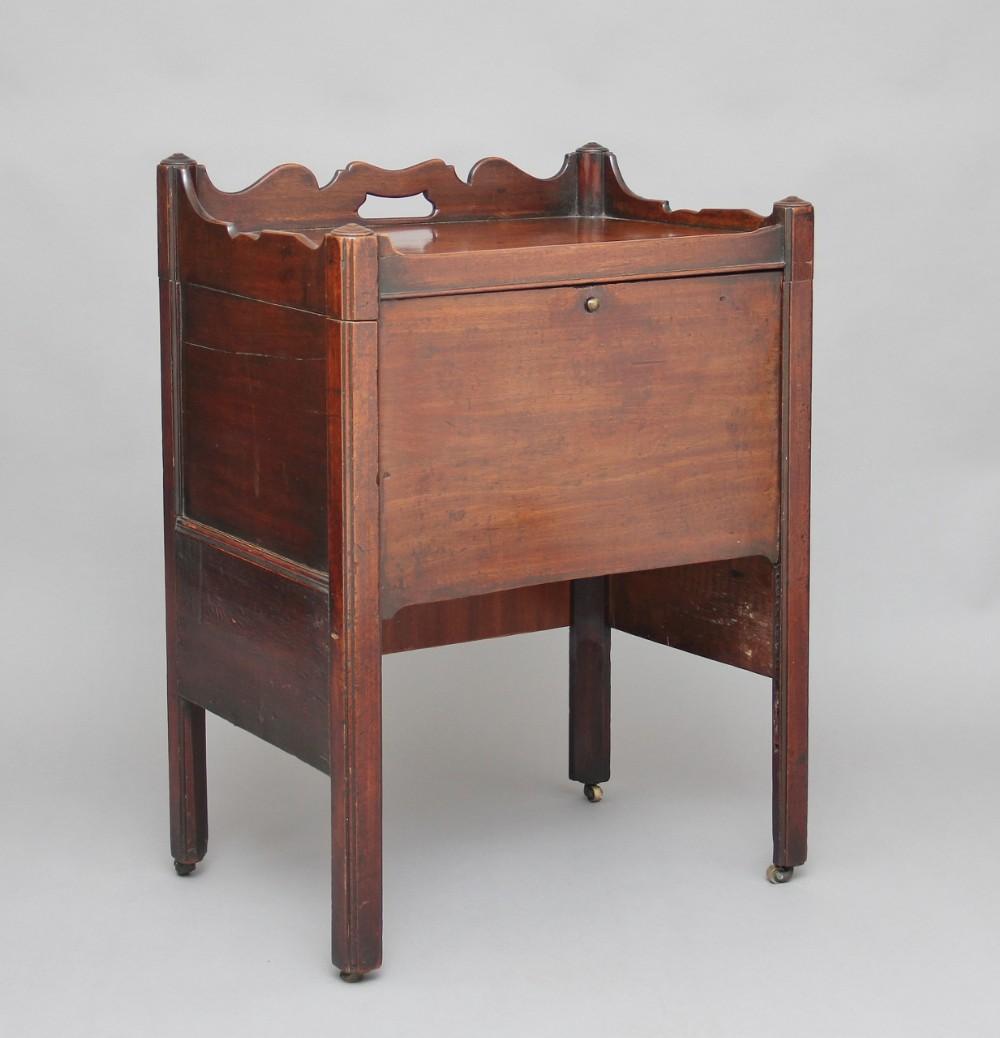 18th century mahogany bedside cupboard