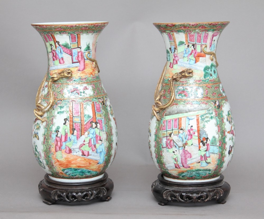 pair of 19th century chinese vases