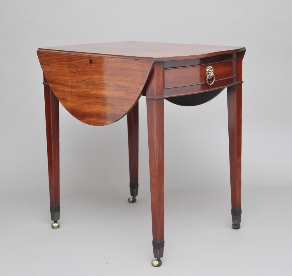18th century mahogany pembroke table