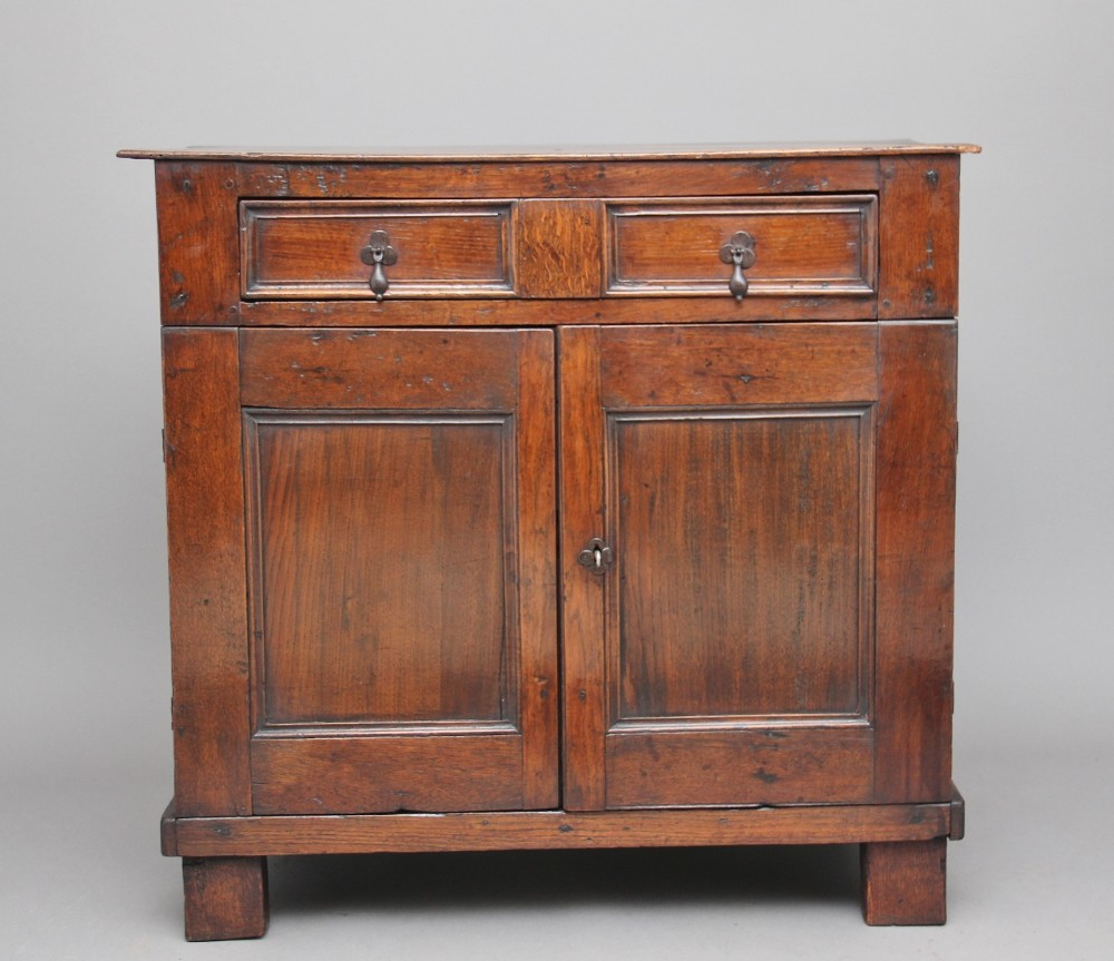 early 18th century oak enclosed chest