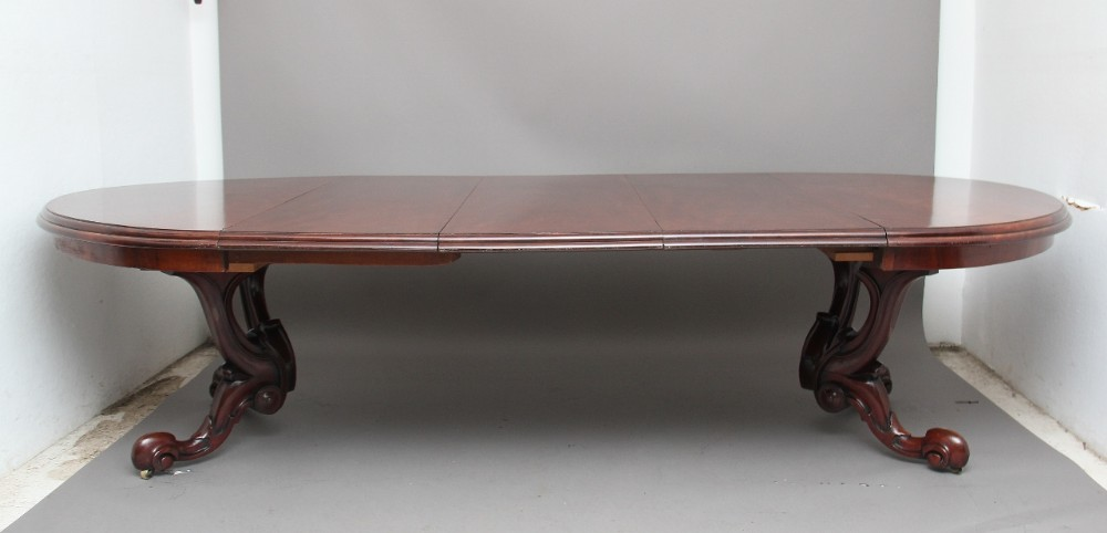 mid 19th century mahogany dining table