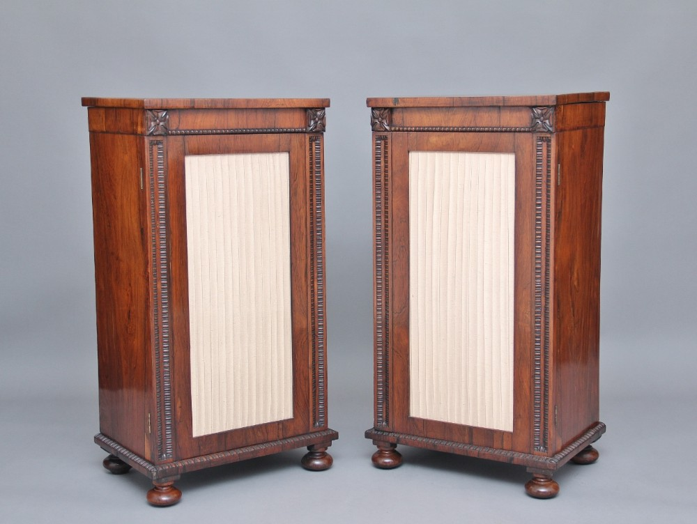 pair of 19th century rosewood pedestal cabinets