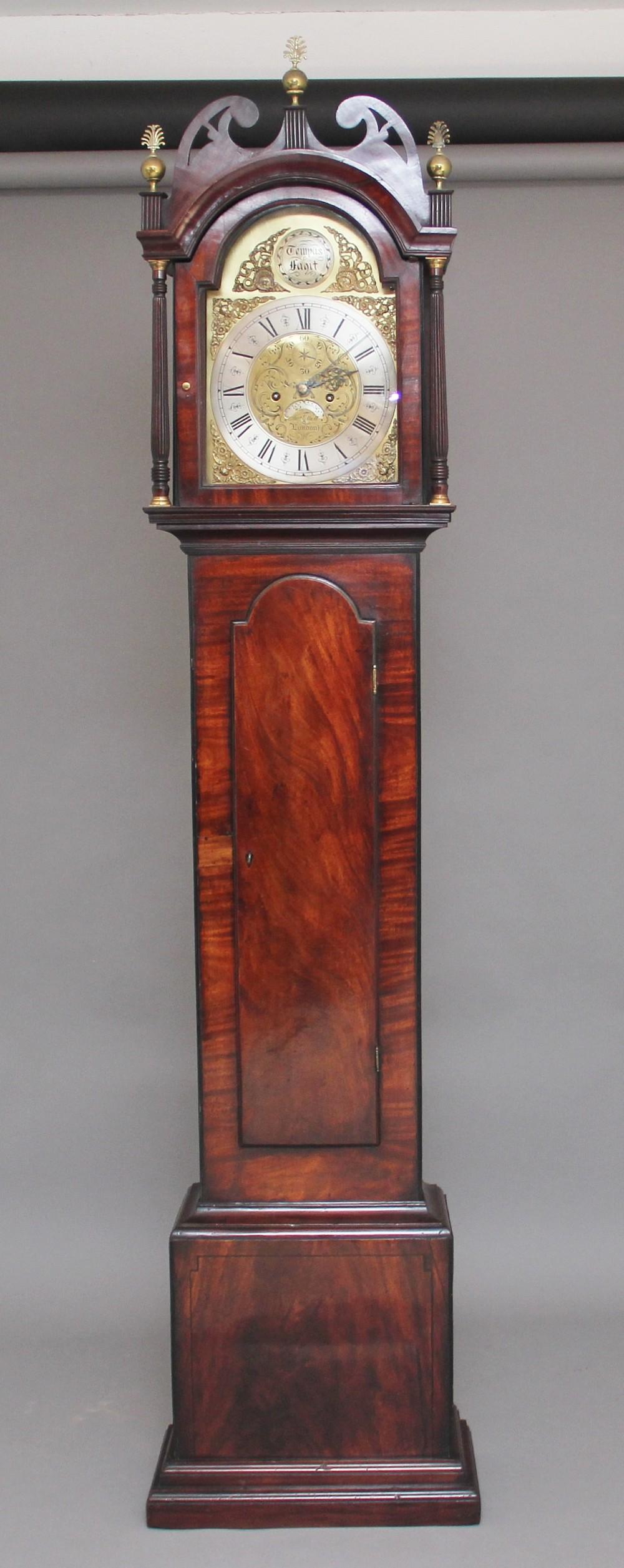 18th century mahogany long case clock