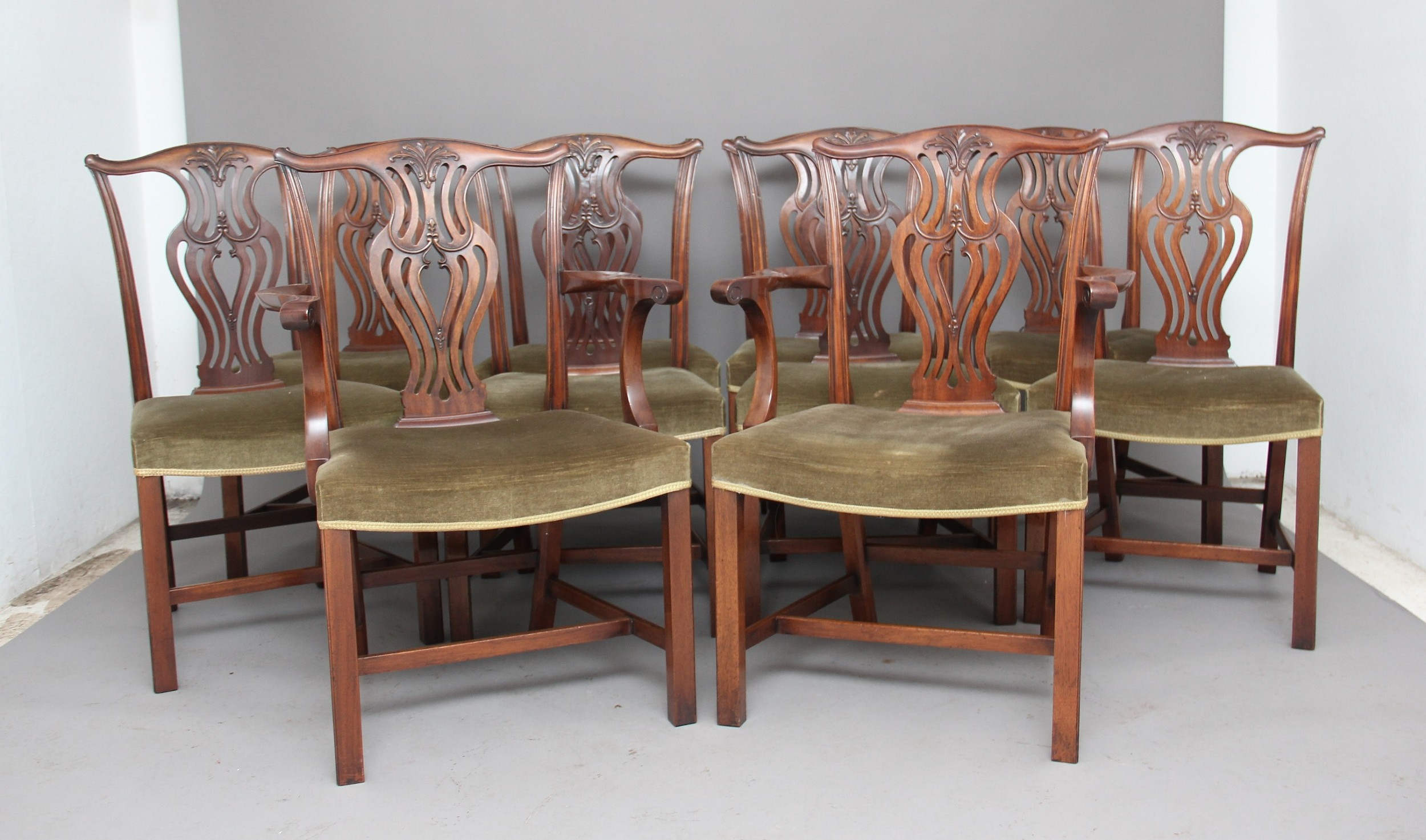 set of ten early 20th century chippendale chairs 534148