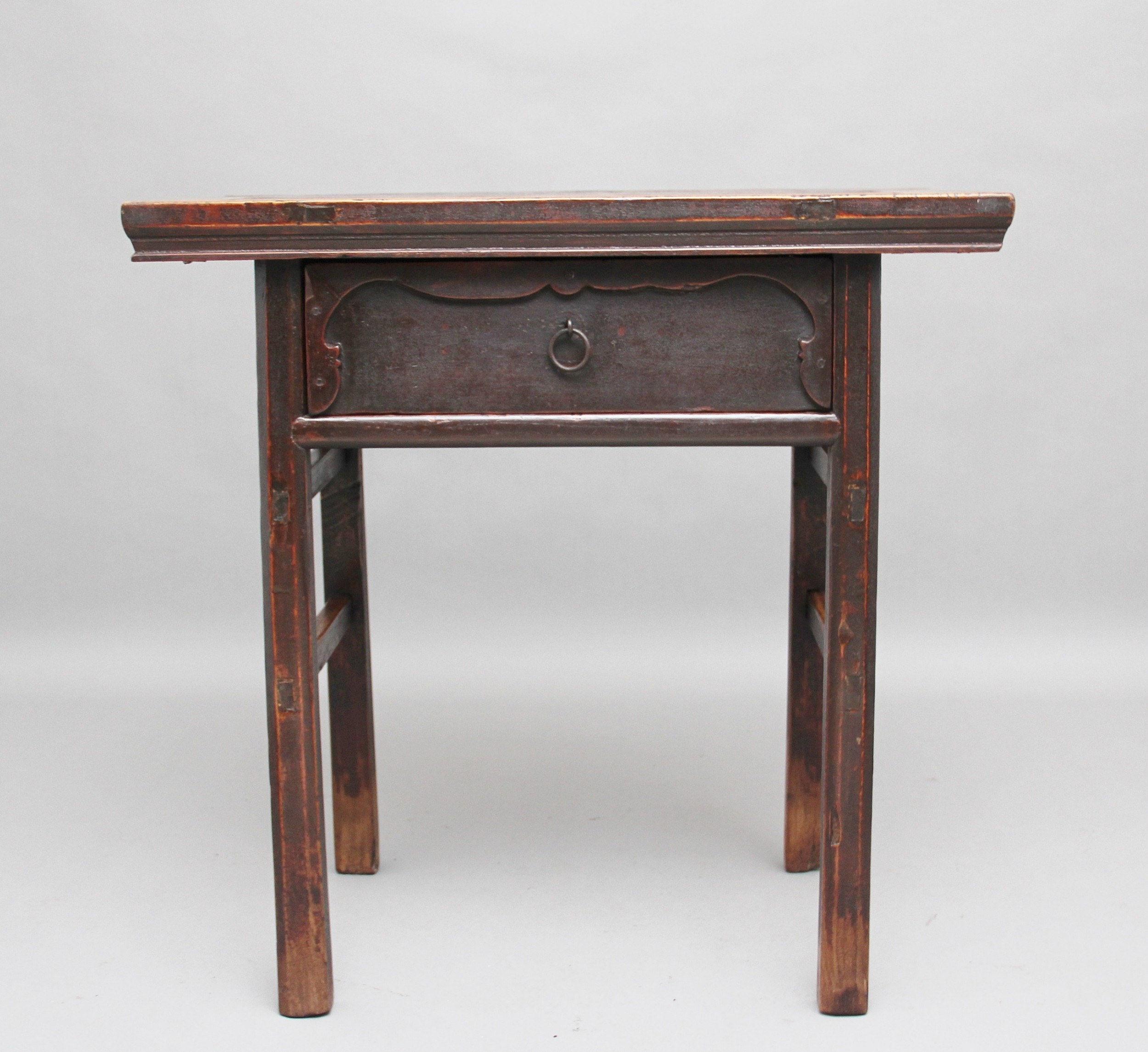 19th century chinese elm side table