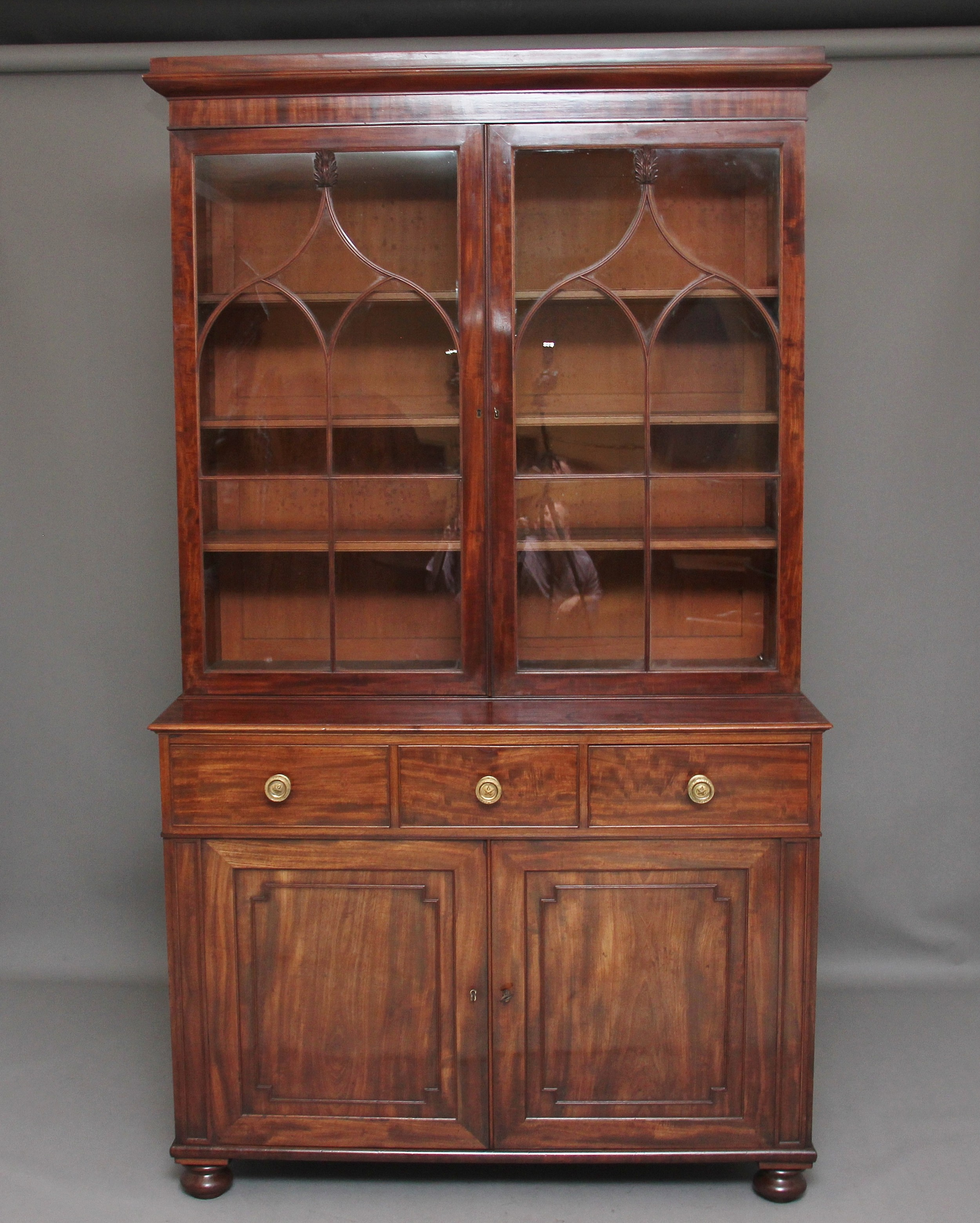 early 19th century mahogany bookcase