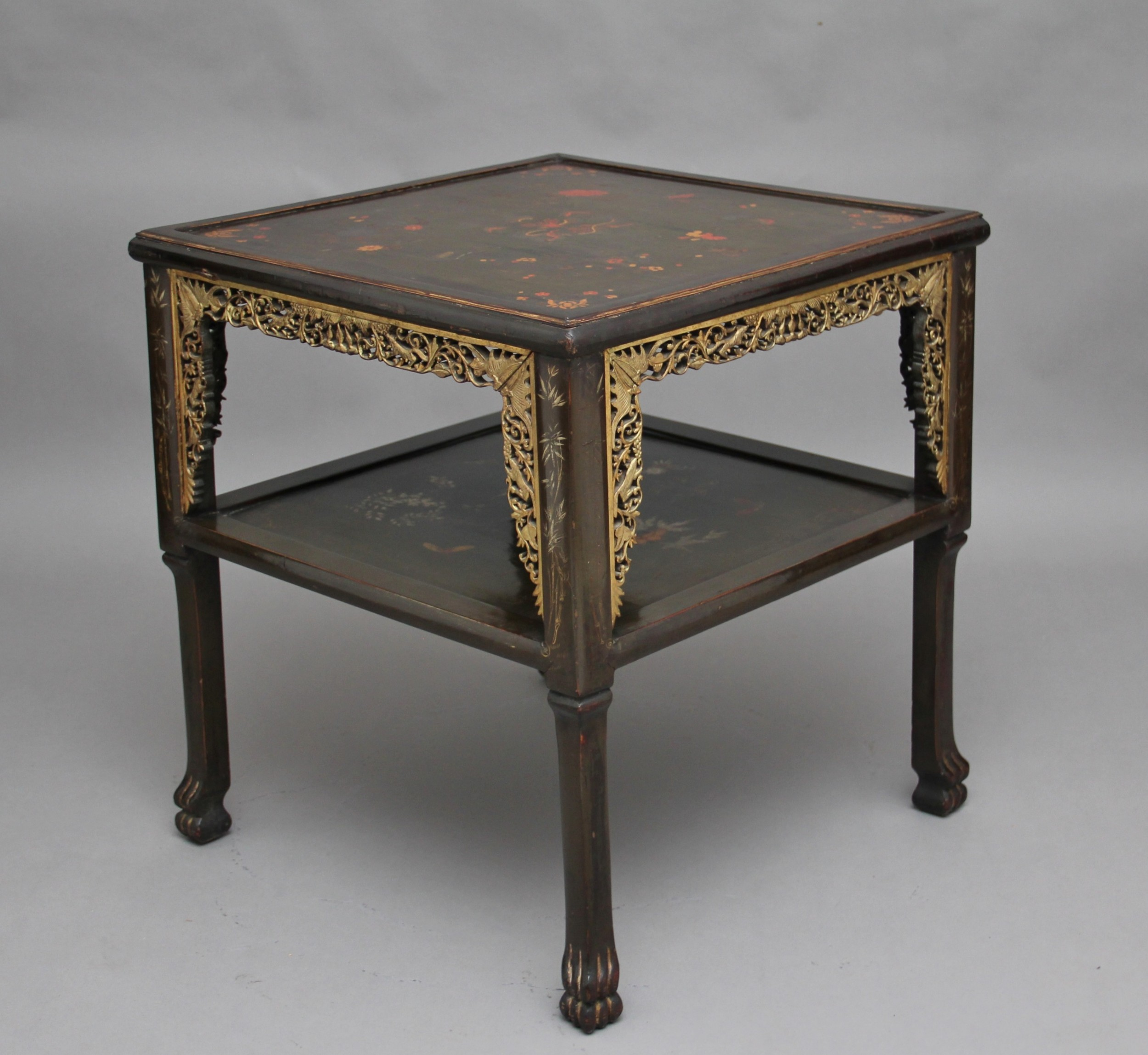 19th century chinese two tier occasional table
