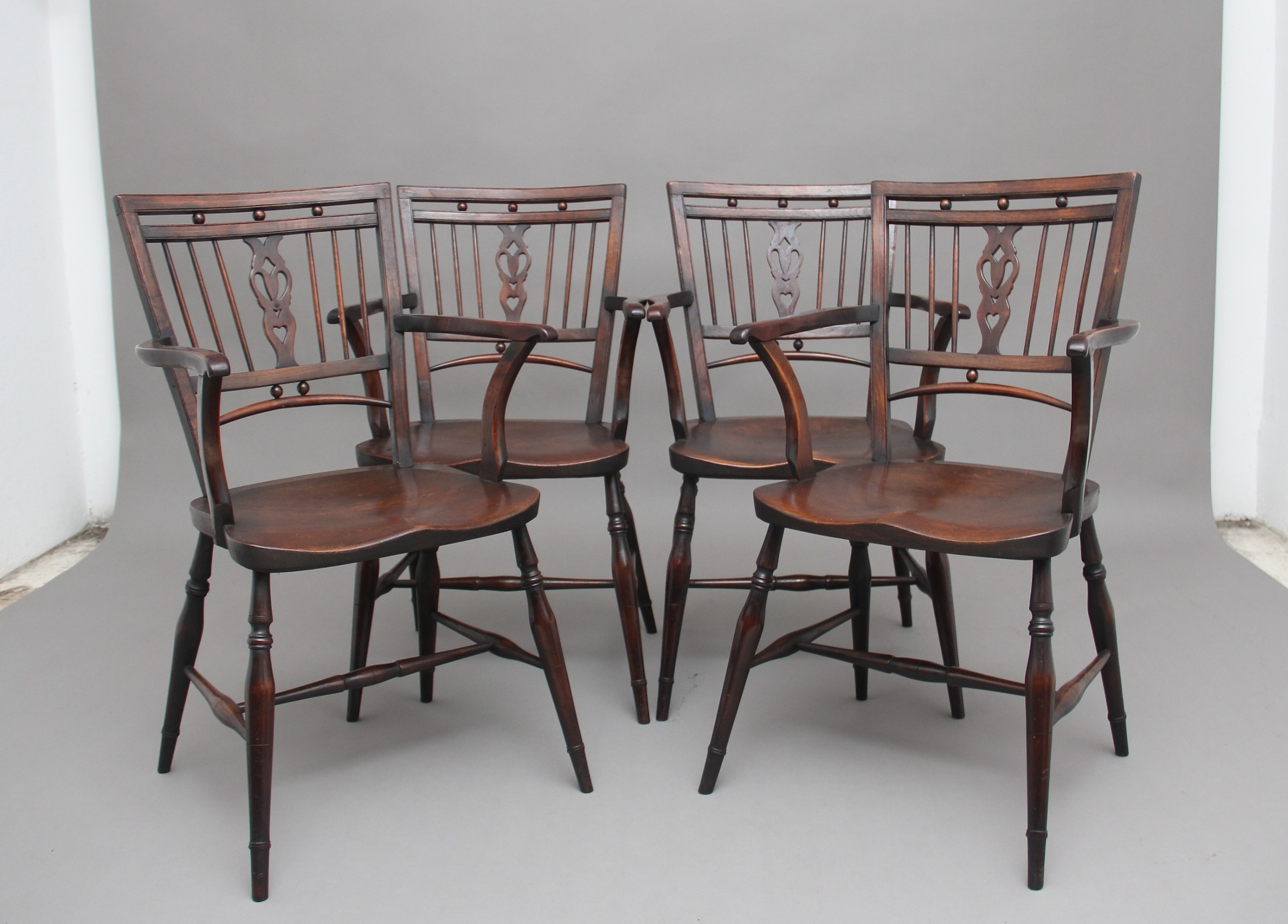 set of four early 20th century mendlesham armchairs