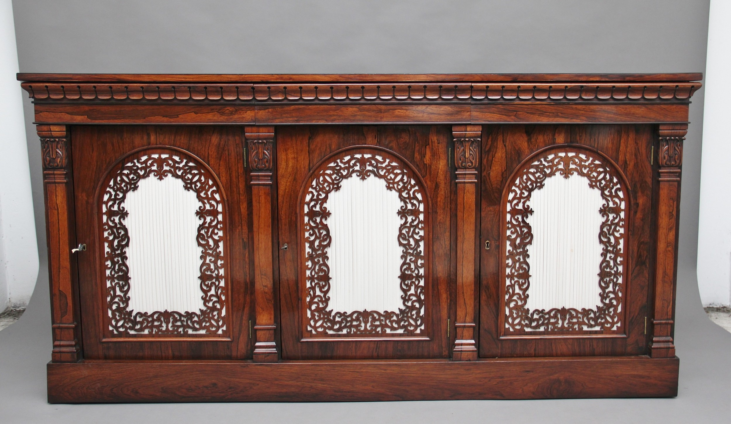 19th century rosewood side cabinet
