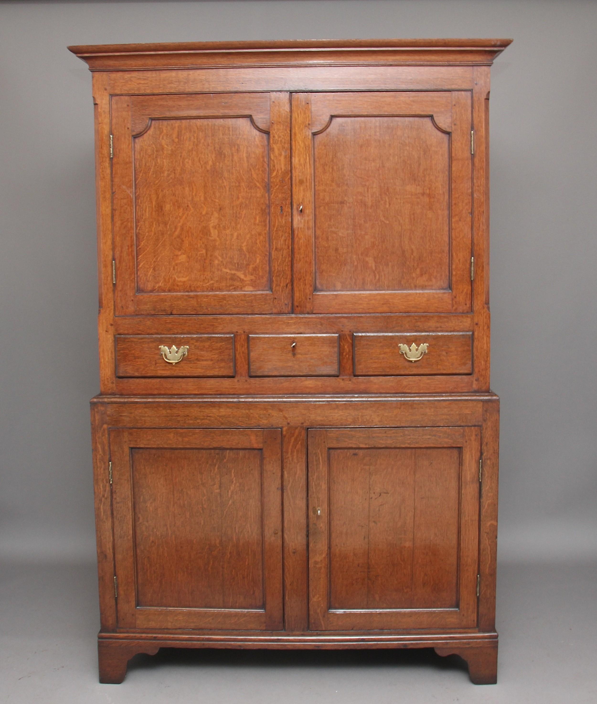 early 19th century oak food cupboard