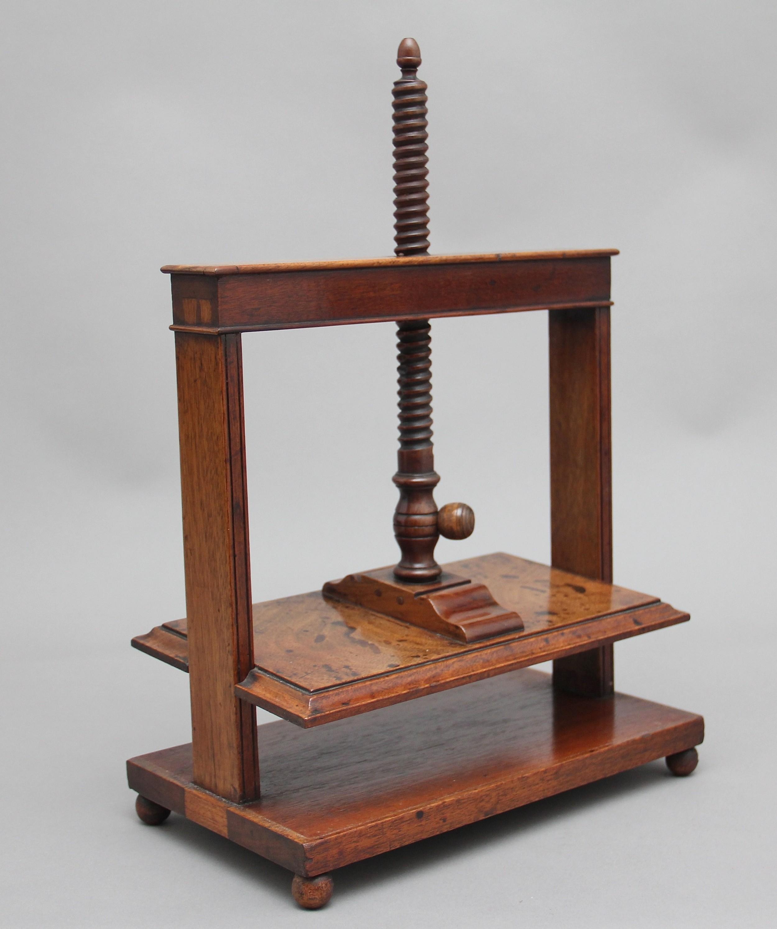 18th century mahogany book press