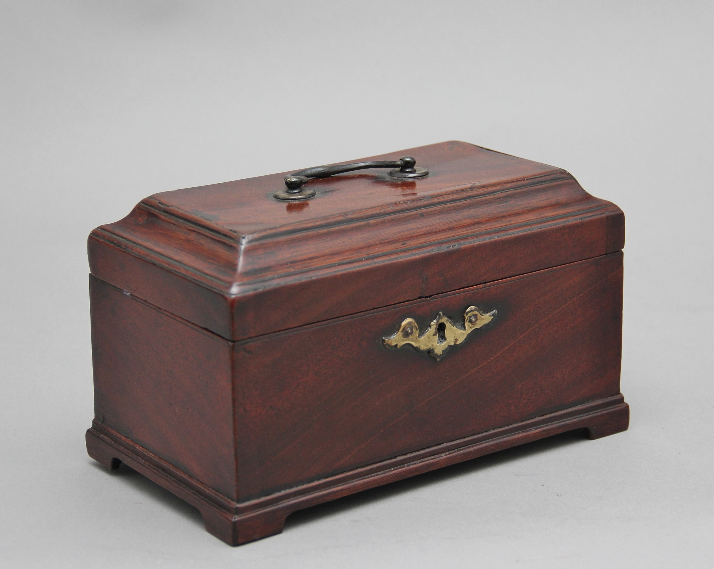 18th century mahogany tea caddy