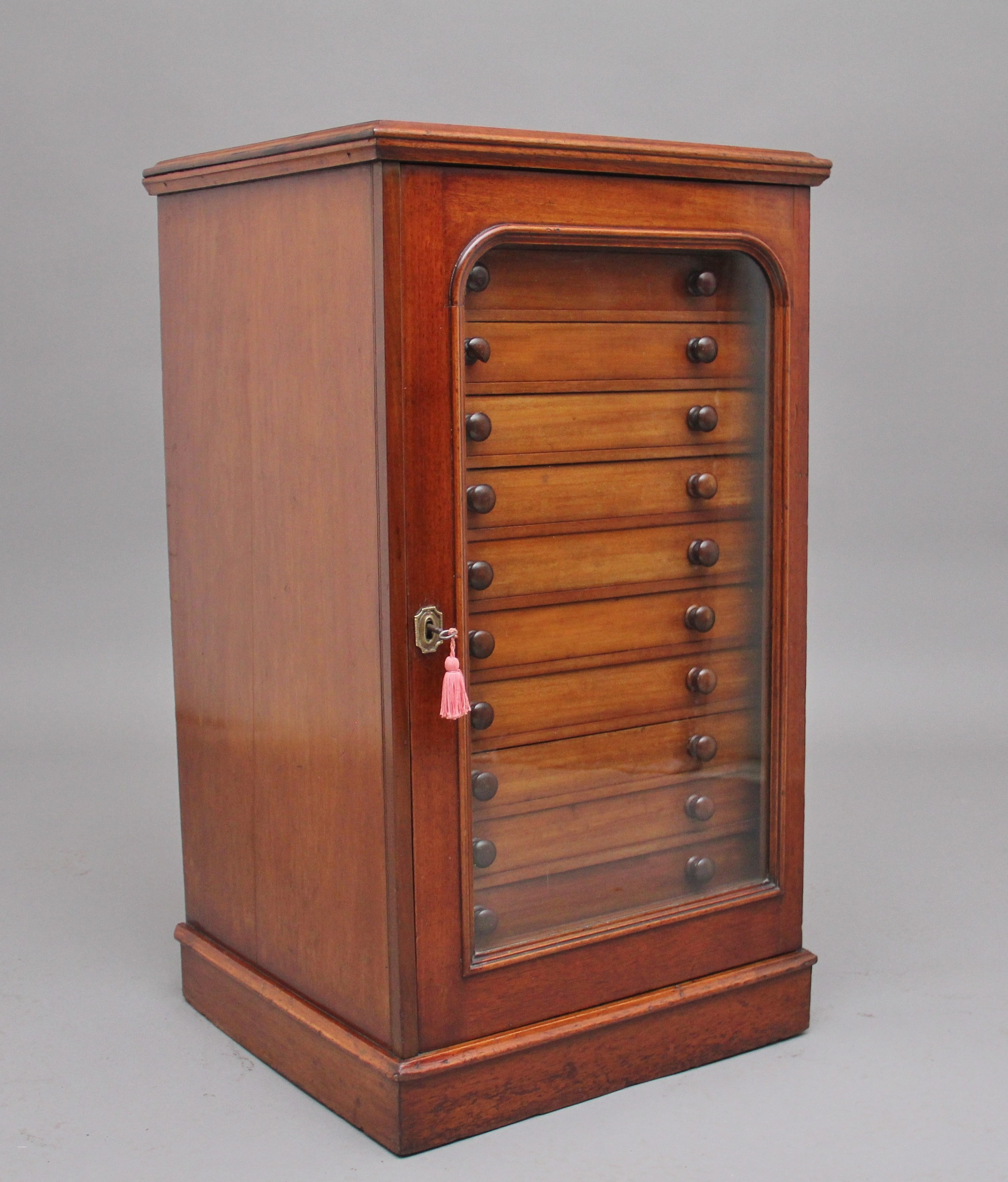 19th century mahogany collectors cabinet