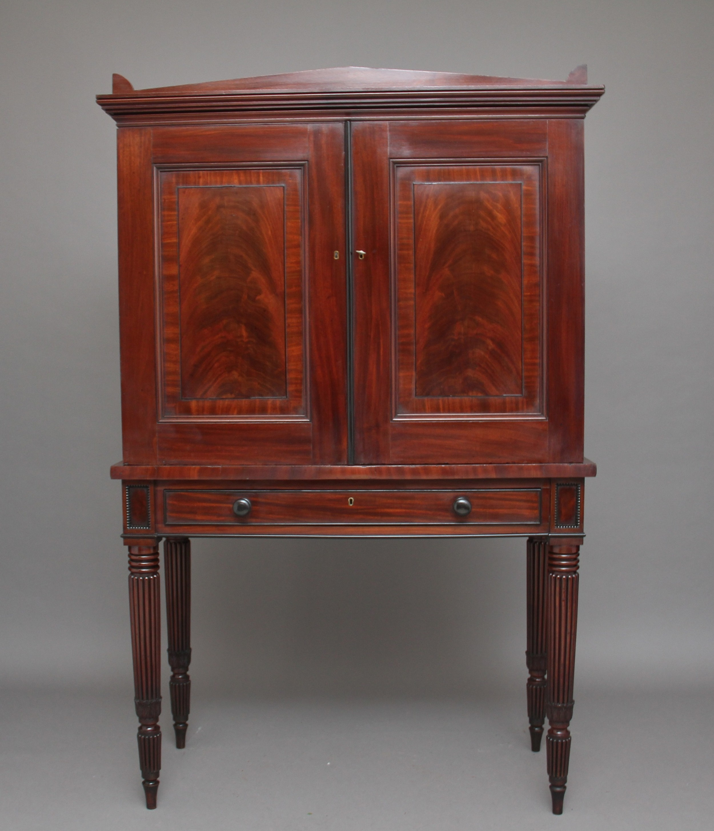 early 19th century mahogany collectors cabinet