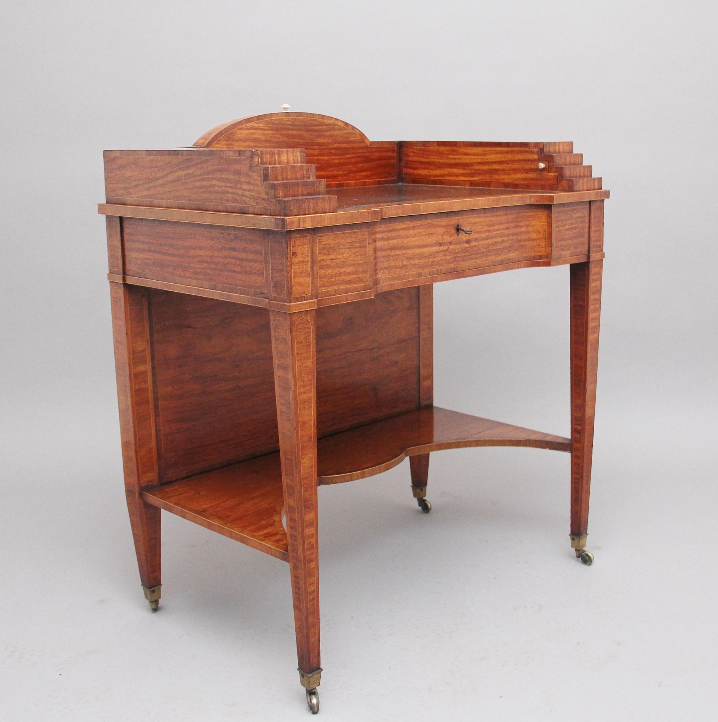 19th century satinwood ladies writing table