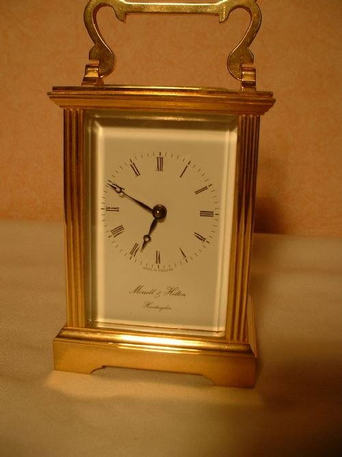 english brass carriage clock - photo angle #2