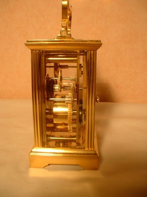 english brass carriage clock - photo angle #3