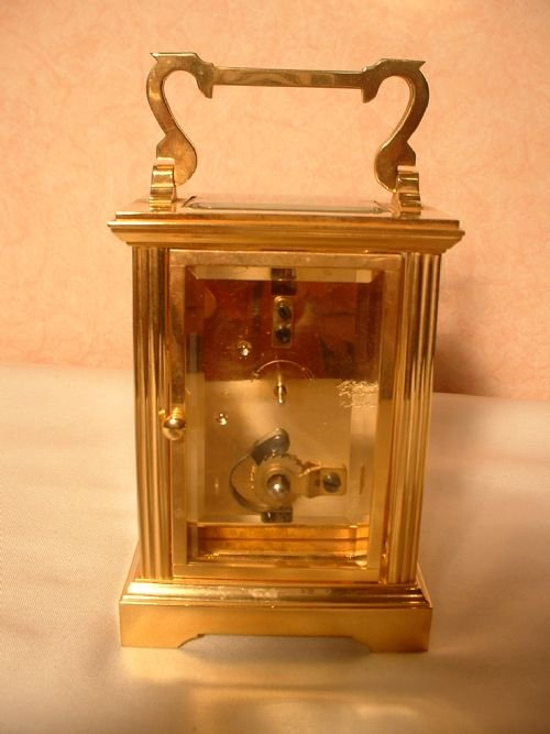 english brass carriage clock - photo angle #4