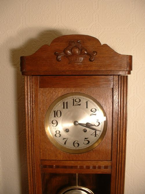 Arts crafts striking wall clock 320936 for Arts and crafts style wall clock