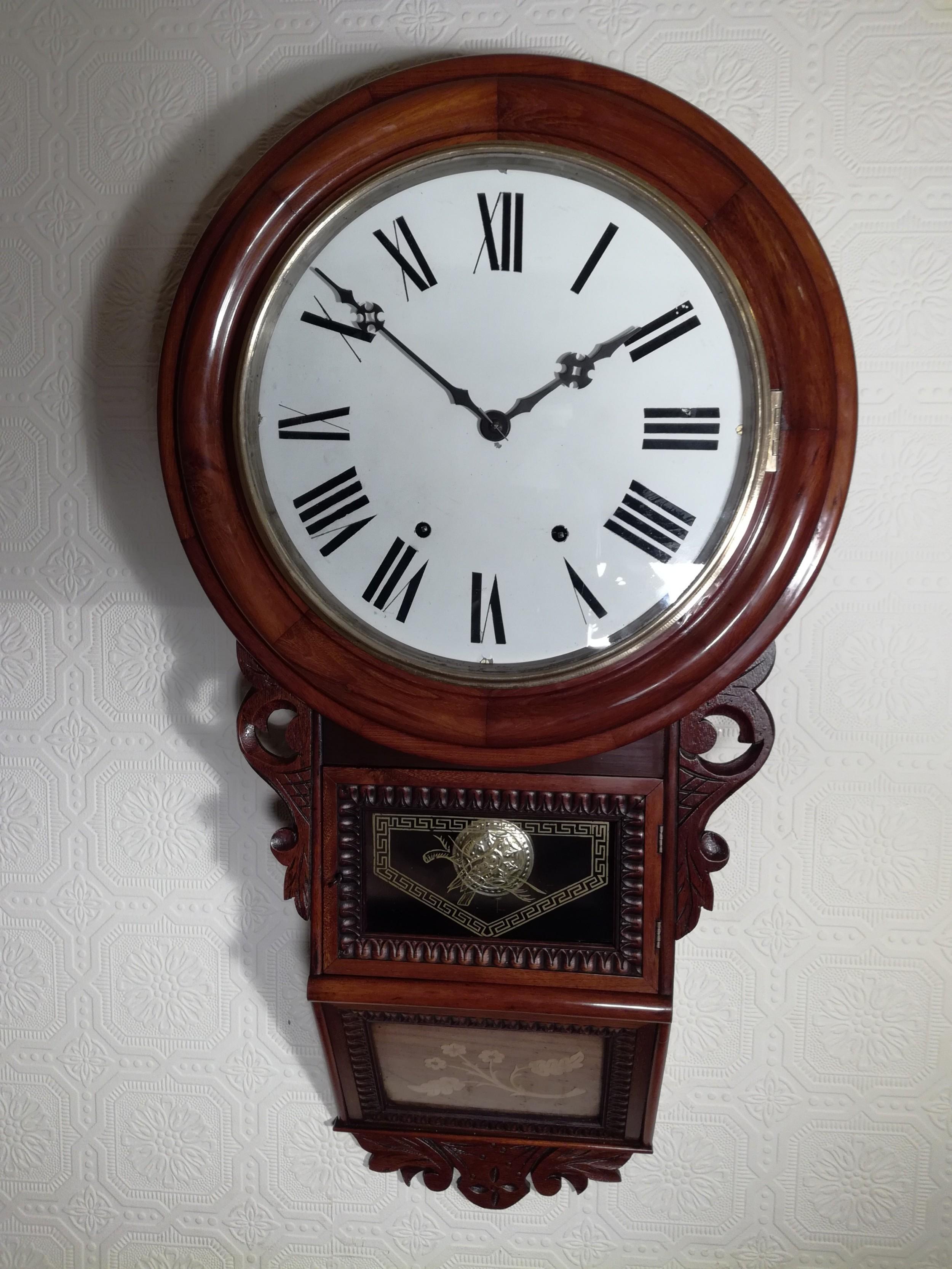 american drop dial wall clock