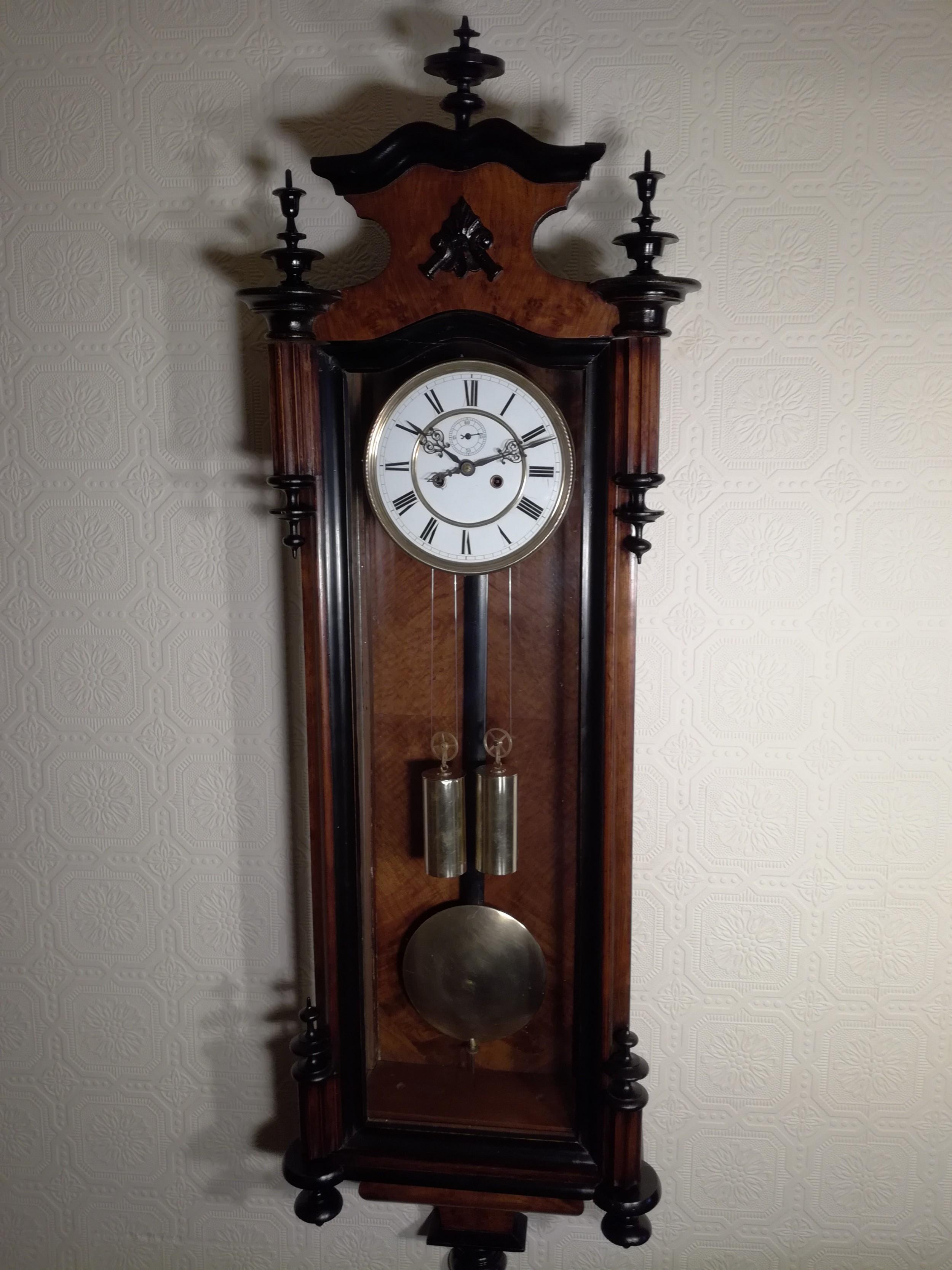 gustav becker doubleweight vienna wall clock